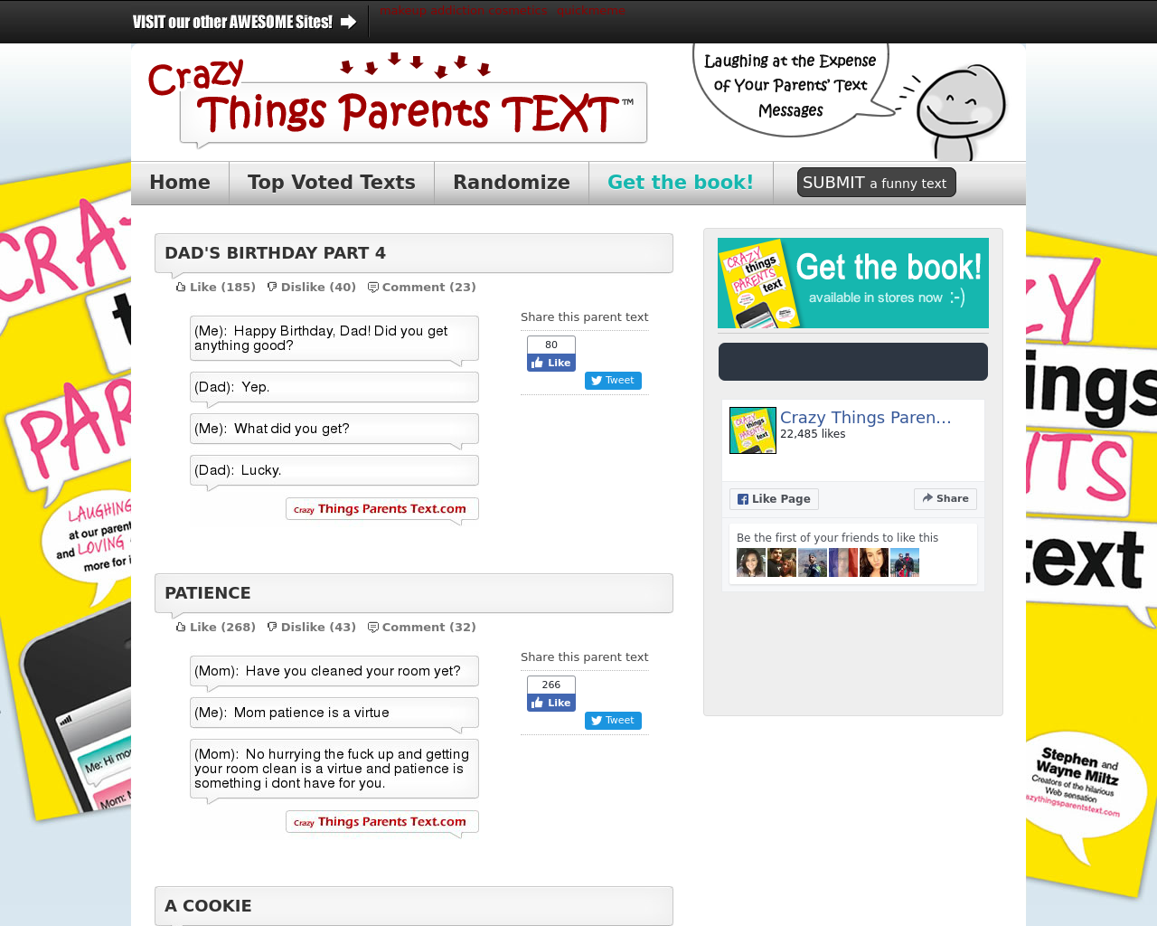 Crazy-Things-Parents-Text-Advertising-Reviews-Pricing