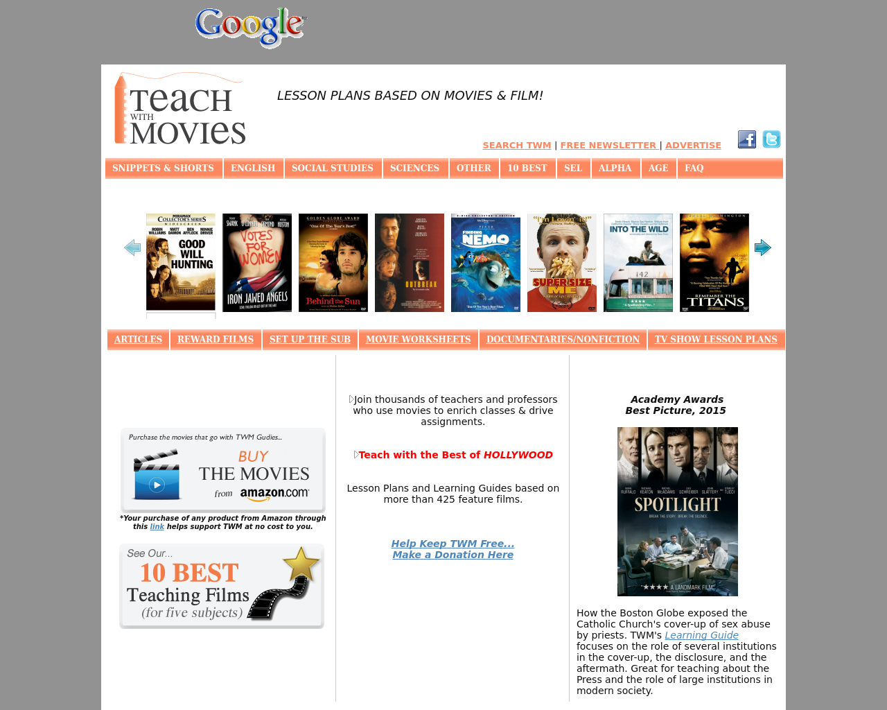 Teachwithmovies.org-Advertising-Reviews-Pricing