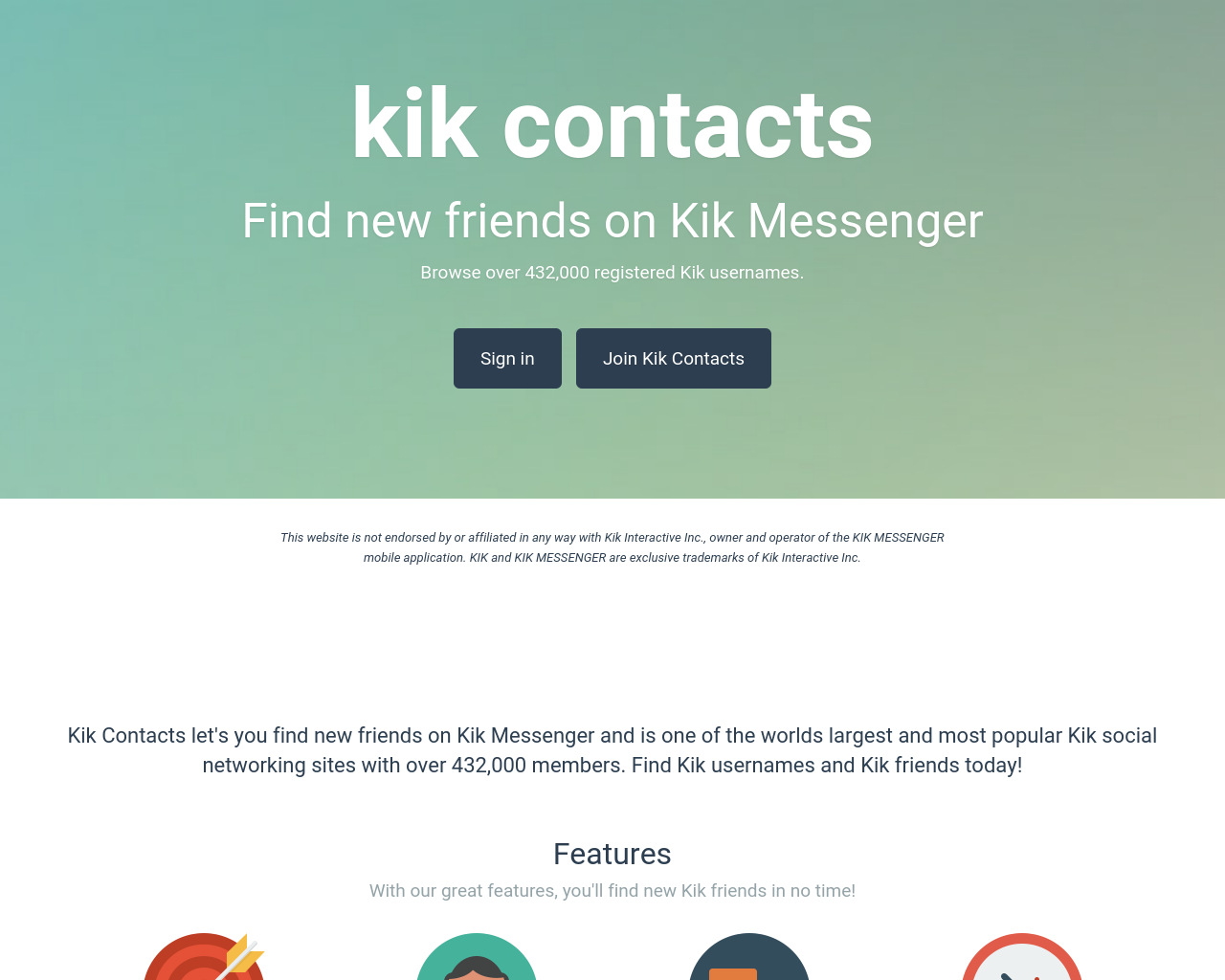 Kik contacts search