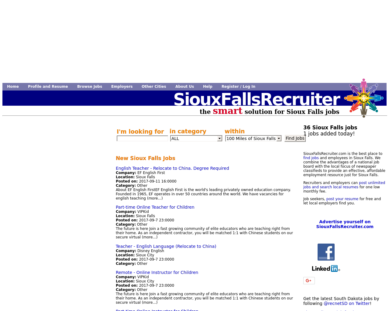 SiouxFallsRecruiter.com-Advertising-Reviews-Pricing