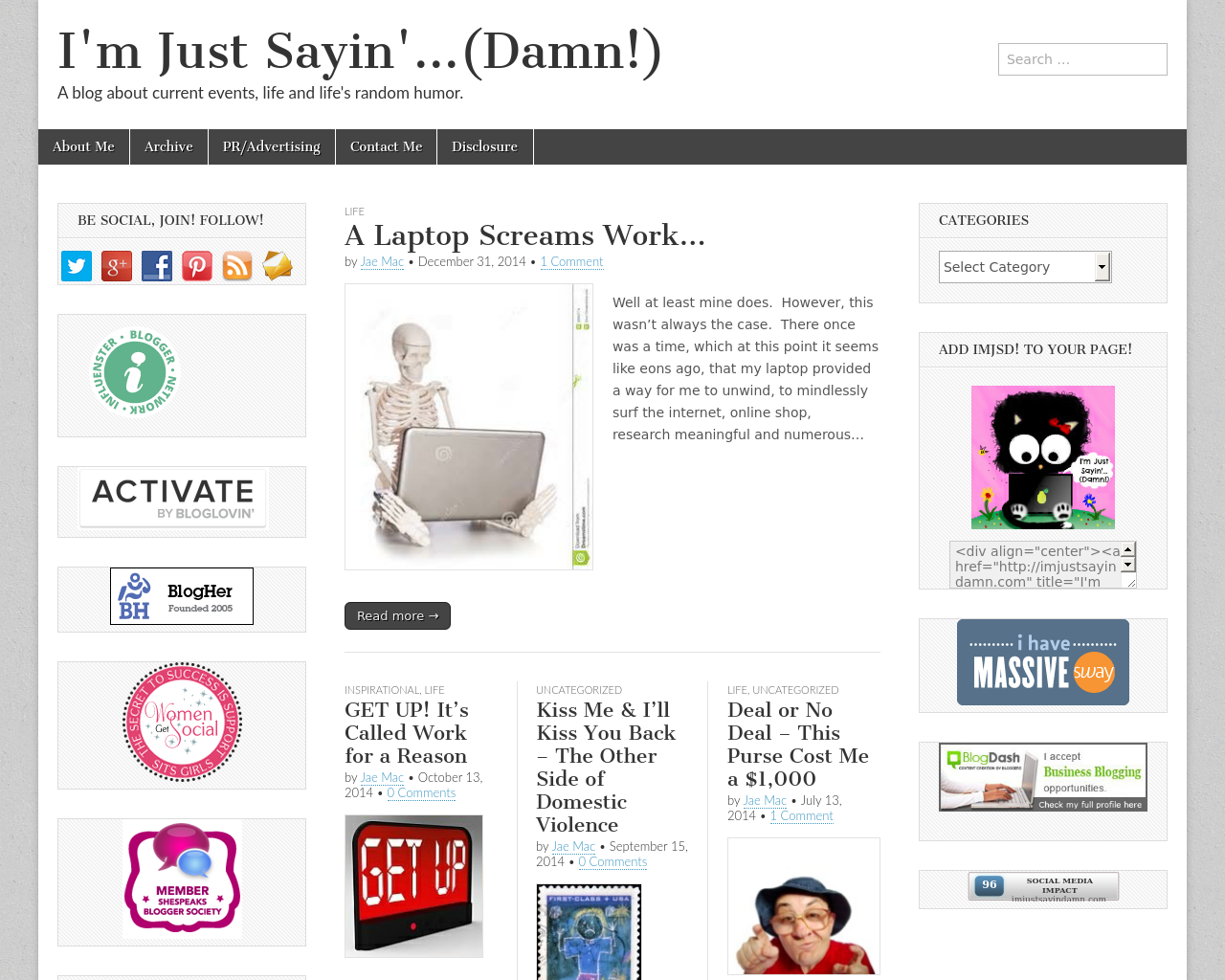 I'm-Just-Sayin'…(Damn!)-Advertising-Reviews-Pricing