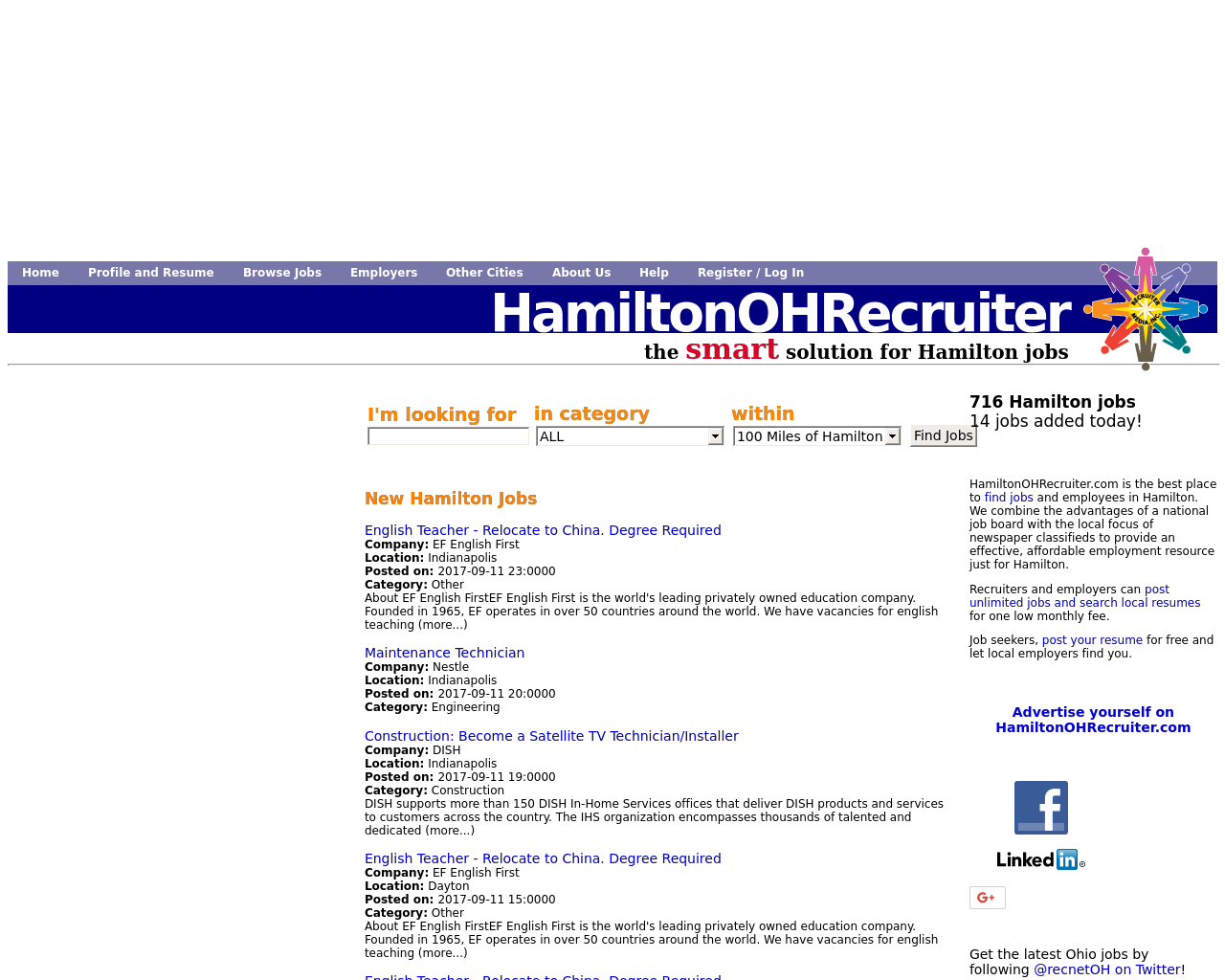 HamiltonOHRecruiter.com-Advertising-Reviews-Pricing