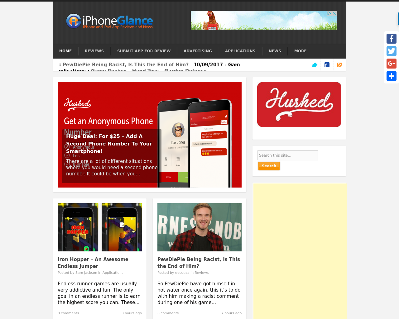 Iphoneglance.com-Advertising-Reviews-Pricing