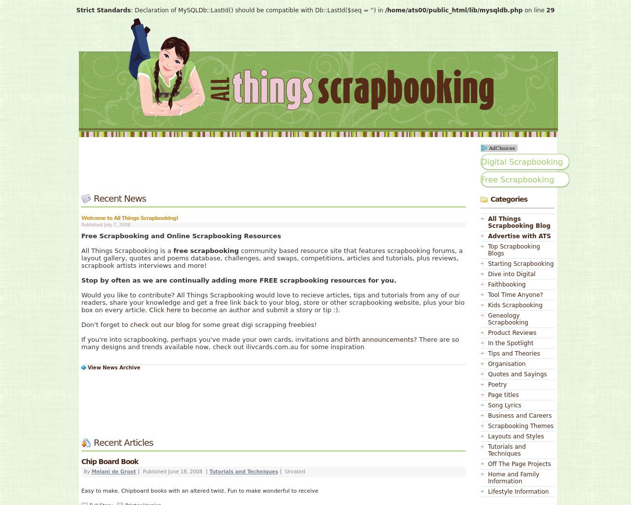 All Things Scrapbooking Advertising Mediakits Reviews Pricing