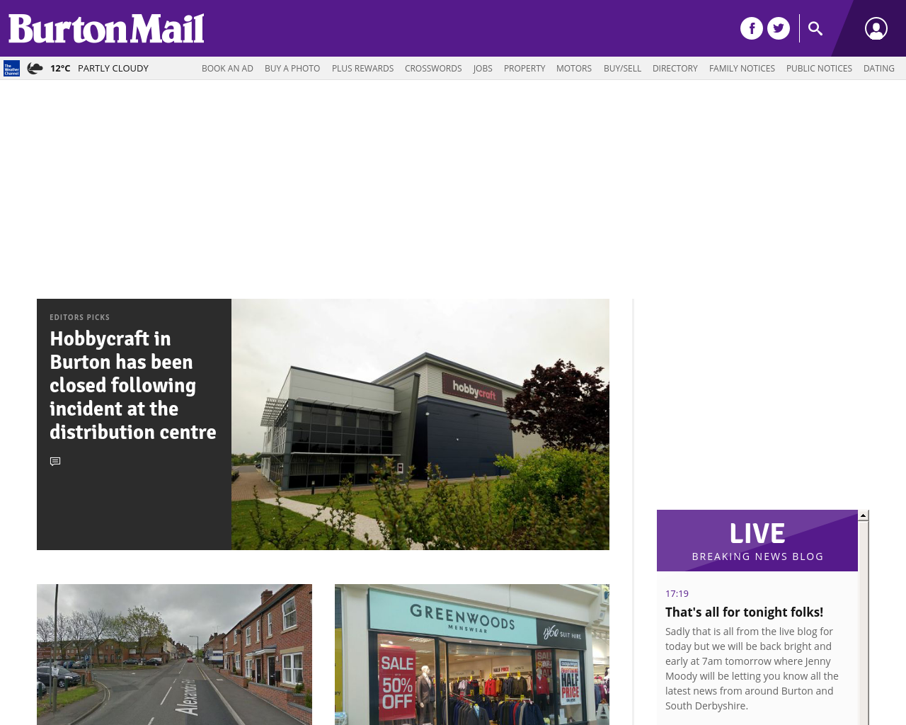 burton mail today