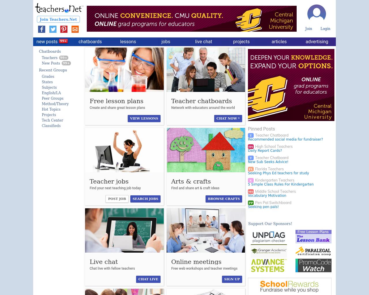 Teachers.net-Advertising-Reviews-Pricing