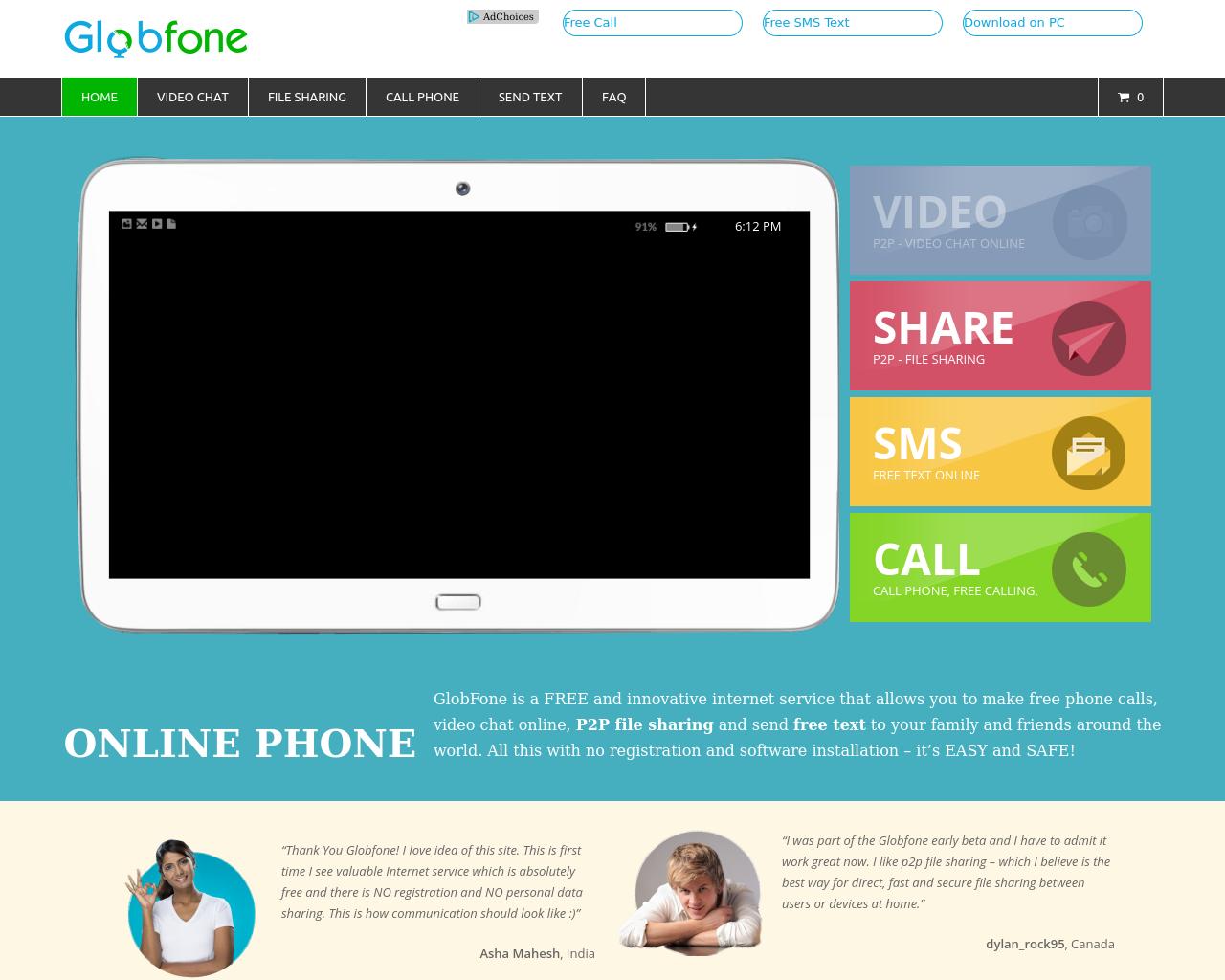 GlobFone.Com-Advertising-Reviews-Pricing