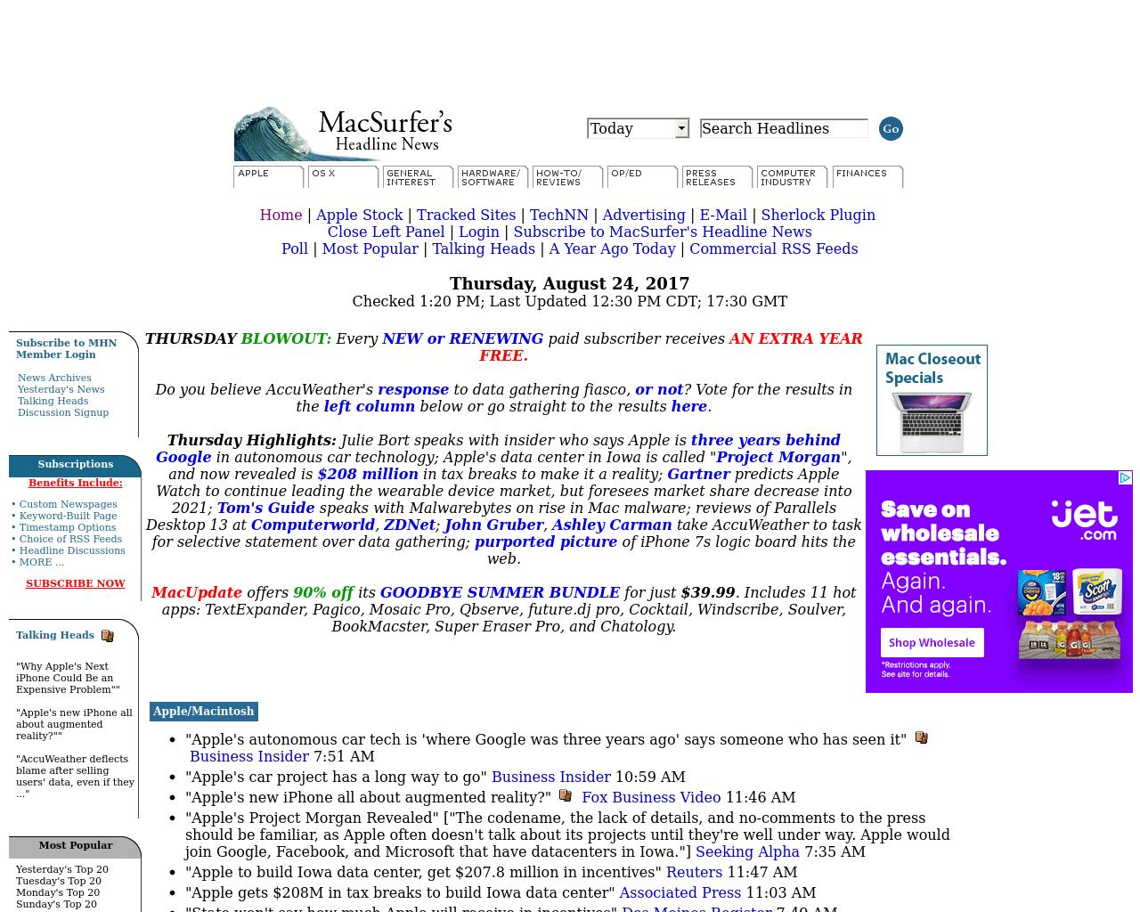 MacSurfer's-Headline-News-Advertising-Reviews-Pricing