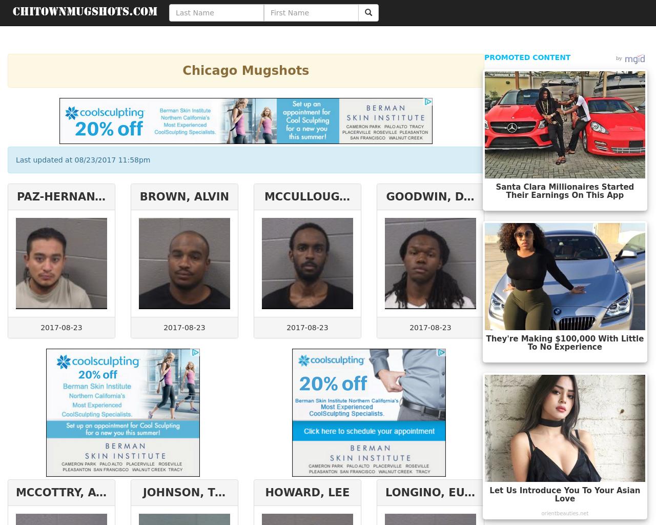 Chitown Mug Shots Advertising Mediakits Reviews Pricing Traffic