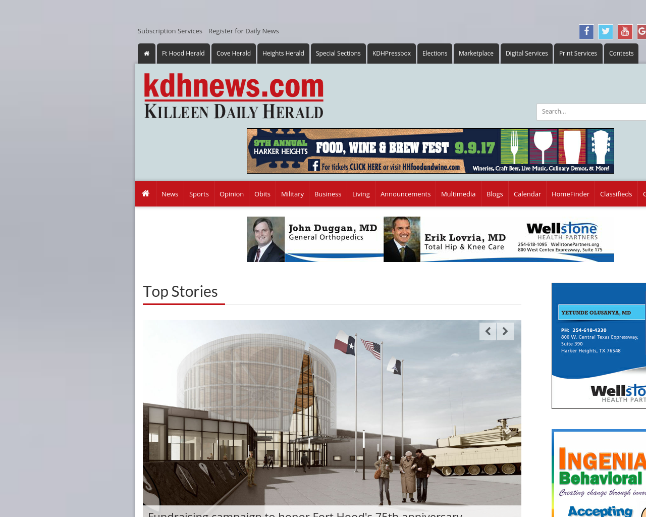 kdhnews.com-/-Killeen-Daily-Herald-Advertising-Reviews-Pricing
