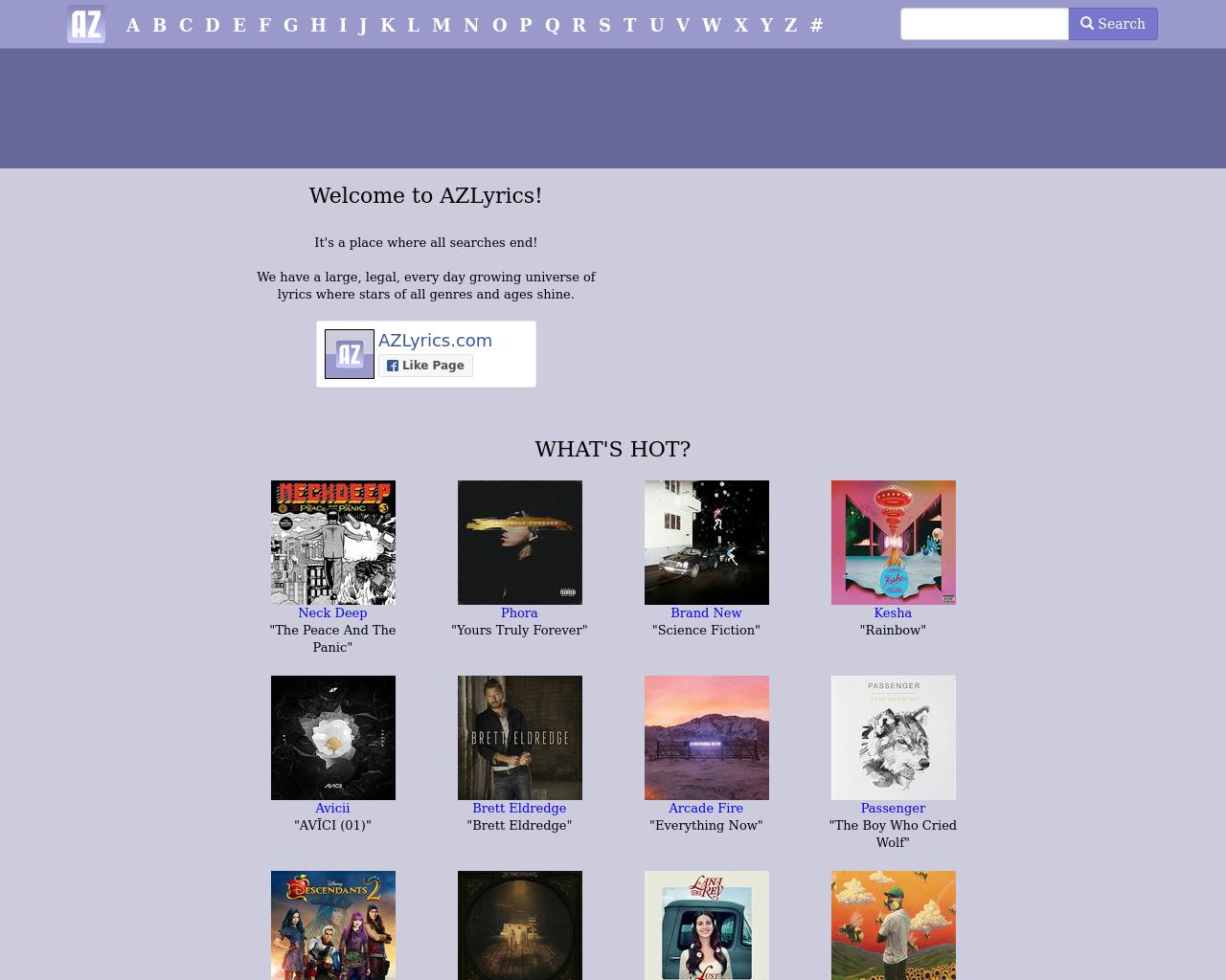 AZLyrics.com-Advertising-Reviews-Pricing