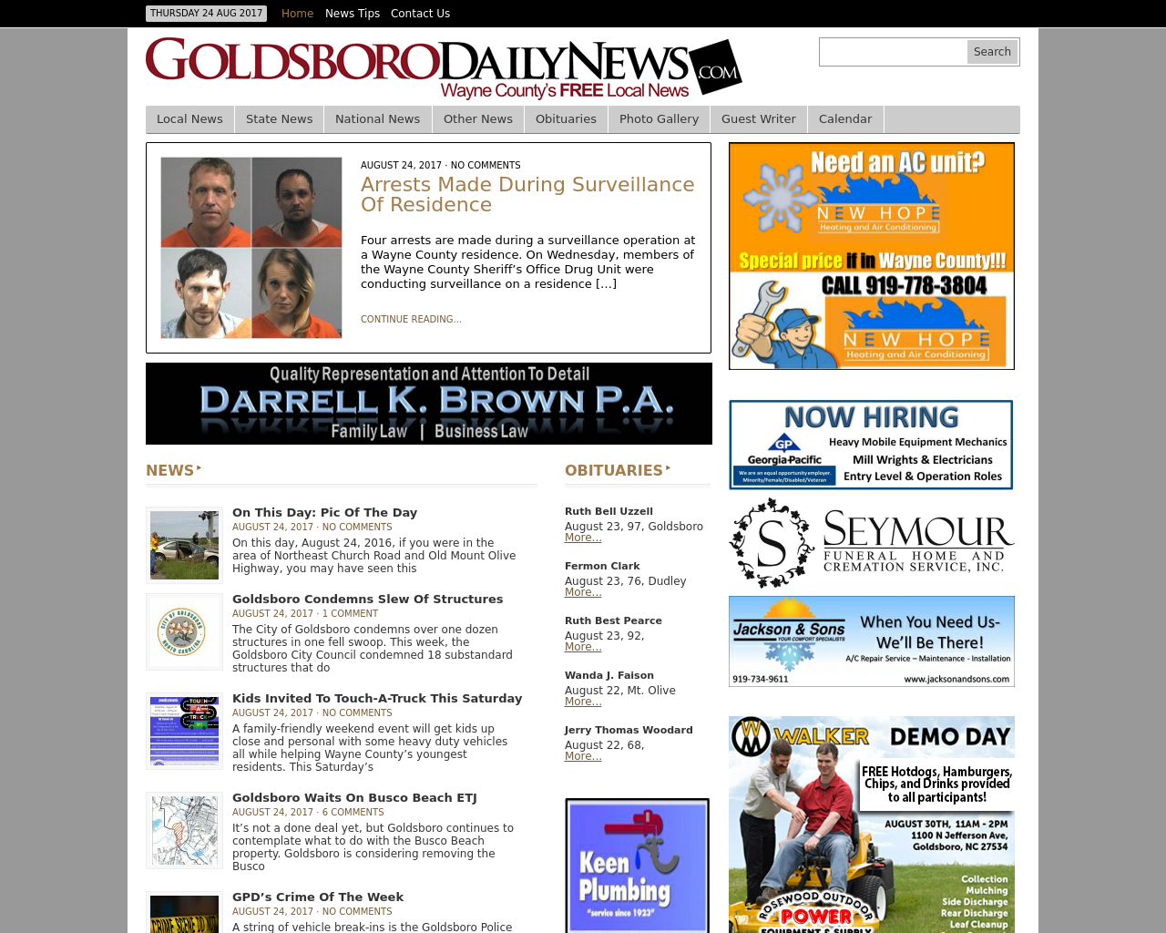 Goldsboro-Daily-News-Advertising-Reviews-Pricing