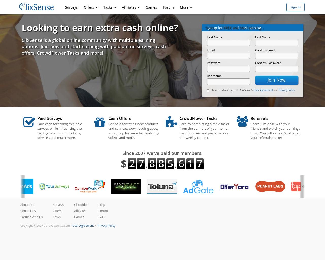ClixSense, Inc  Reviews, Pricing, Traffic, Rate Card Cost, eCPM