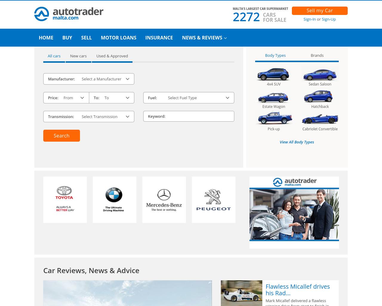 Auto Trader Malta Advertising Mediakits, Reviews, Pricing, Traffic ...