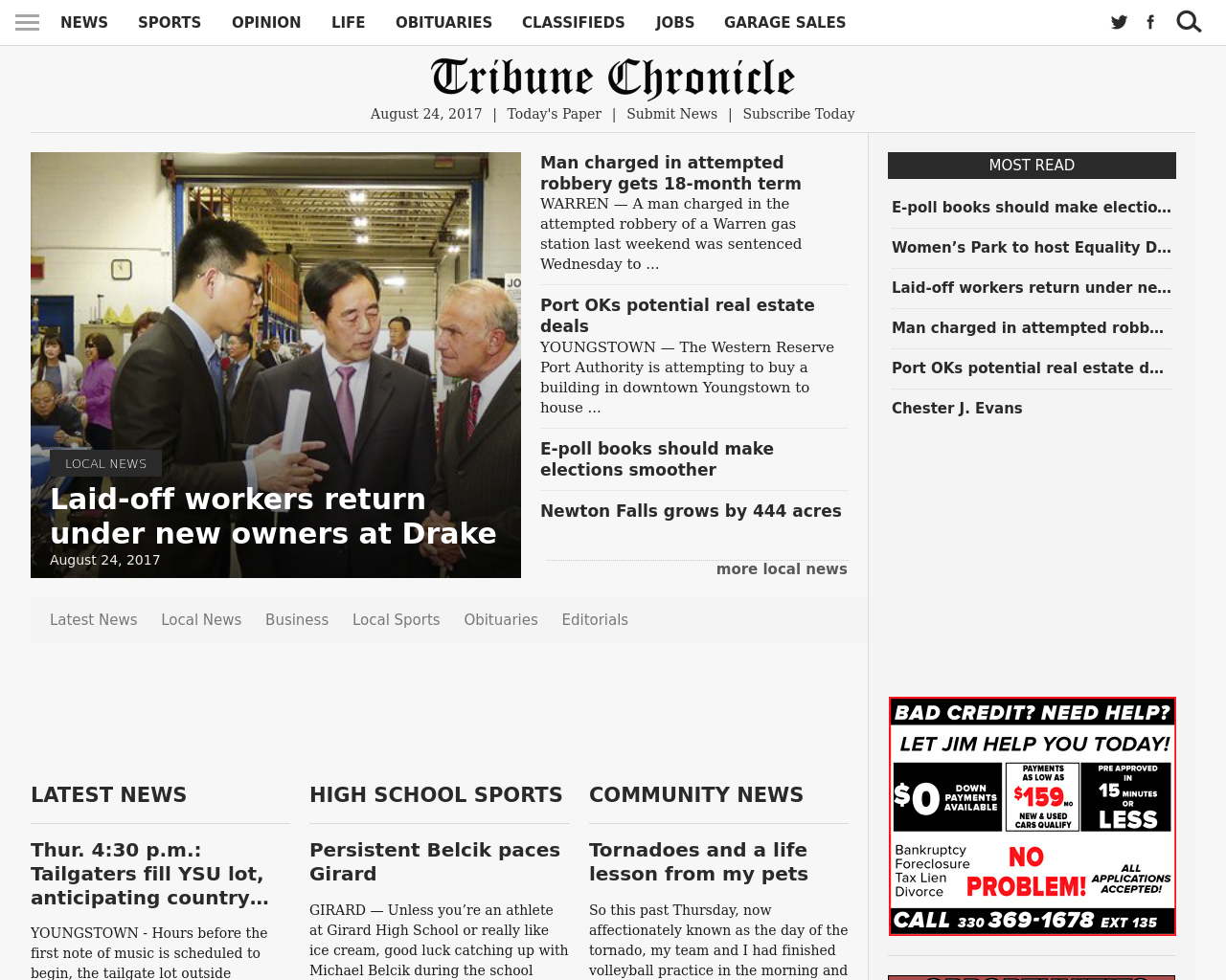 Tribune-chronicle.com-Advertising-Reviews-Pricing