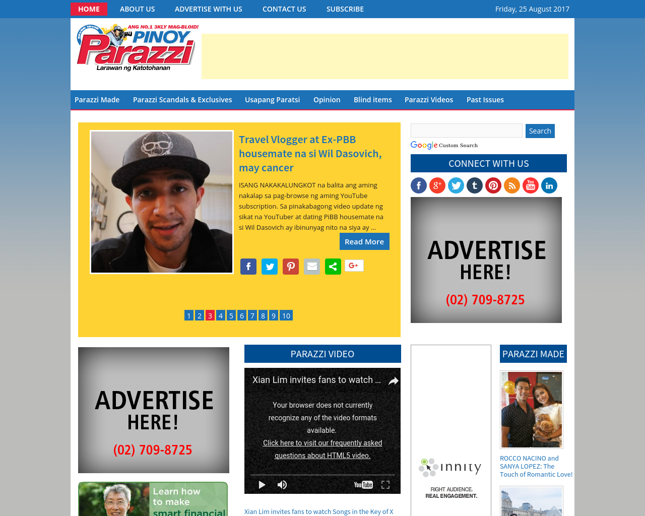 Pinoy Parazzi Advertising Mediakits Reviews Pricing Traffic Rate