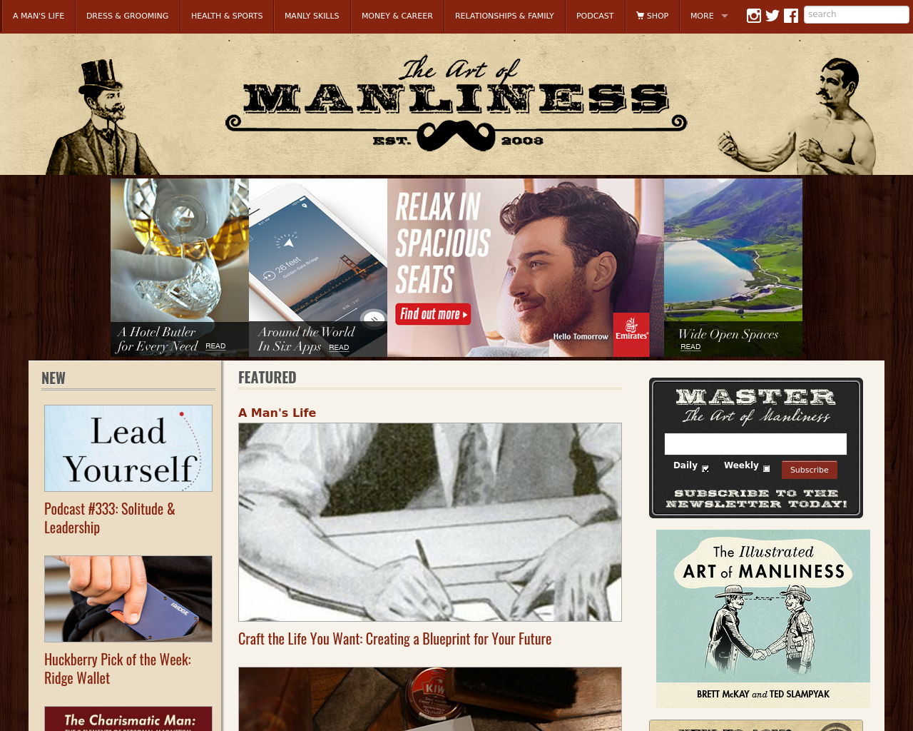 The art of manliness advertising mediakits reviews pricing the art of manliness advertising reviews pricing malvernweather Images