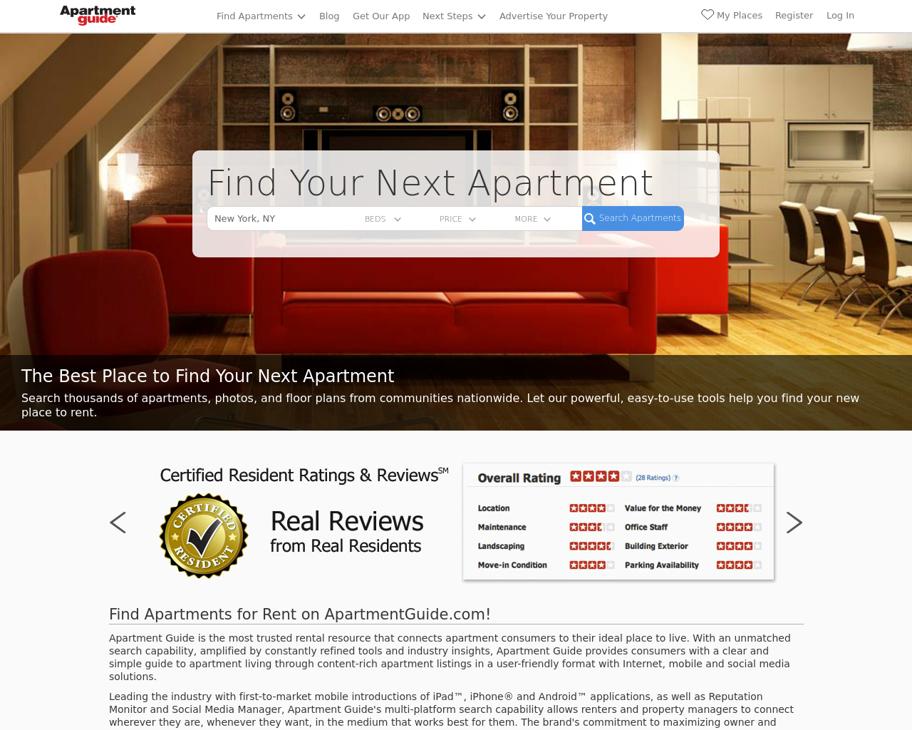 Apartment Guide Advertising Reviews Pricing