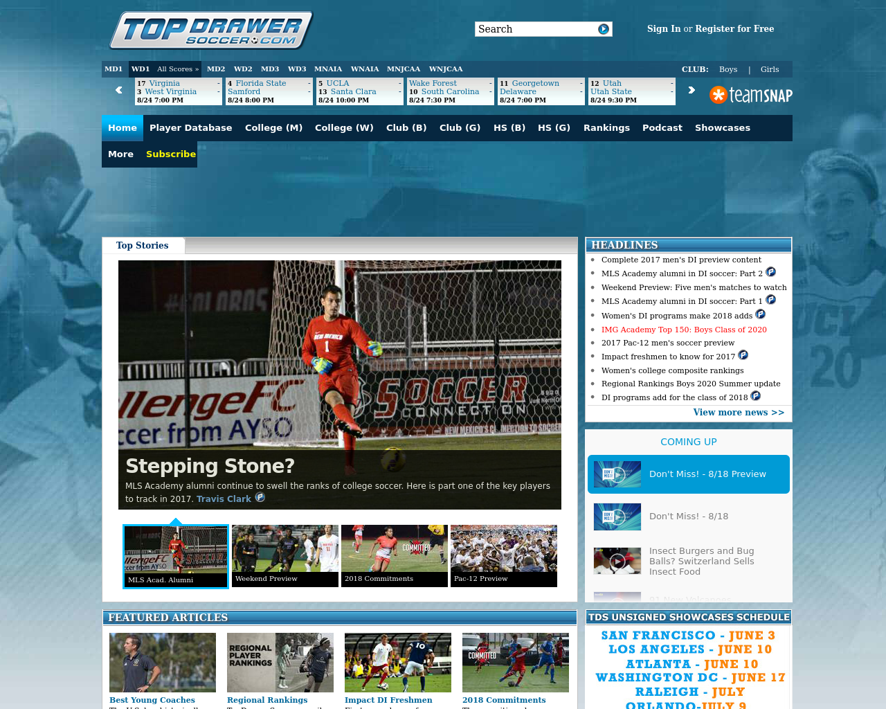 Top Drawer Soccer Advertising Reviews Pricing