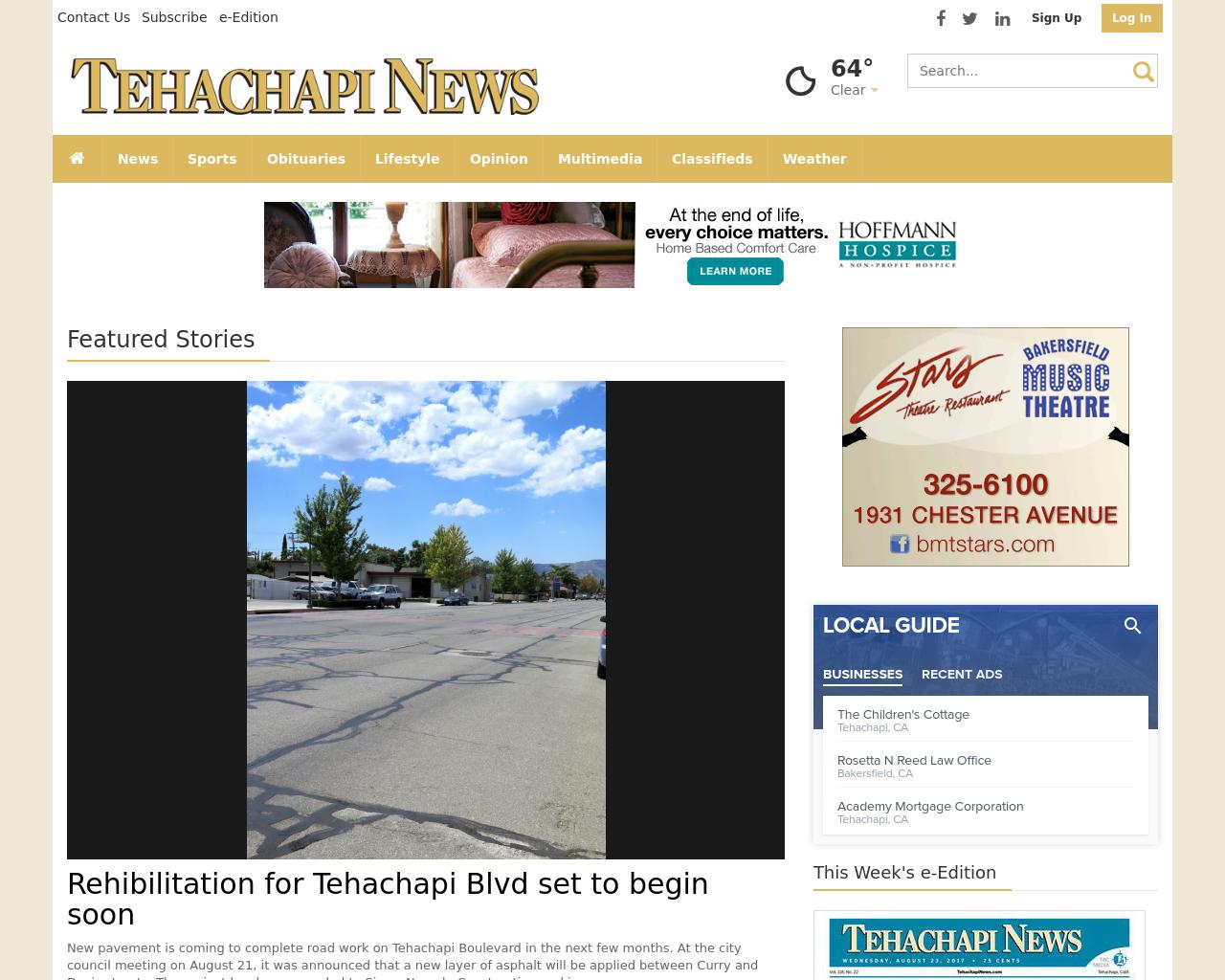Tehachapi-News-Advertising-Reviews-Pricing
