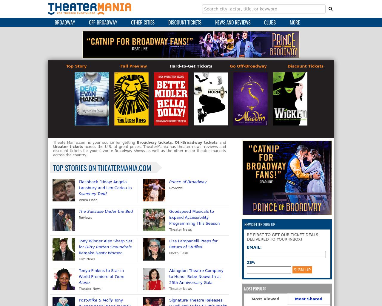 TheaterMania.com-Advertising-Reviews-Pricing