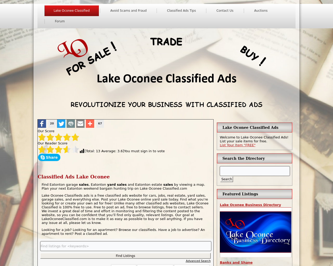 Lake-Oconee-Classified-Ads-Advertising-Reviews-Pricing