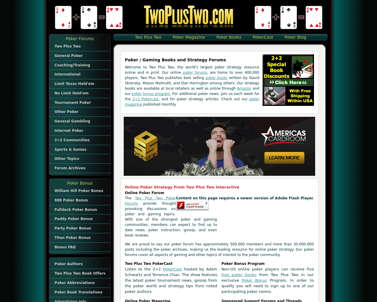 TwoPlusTwo.com-Advertising-Reviews-Pricing