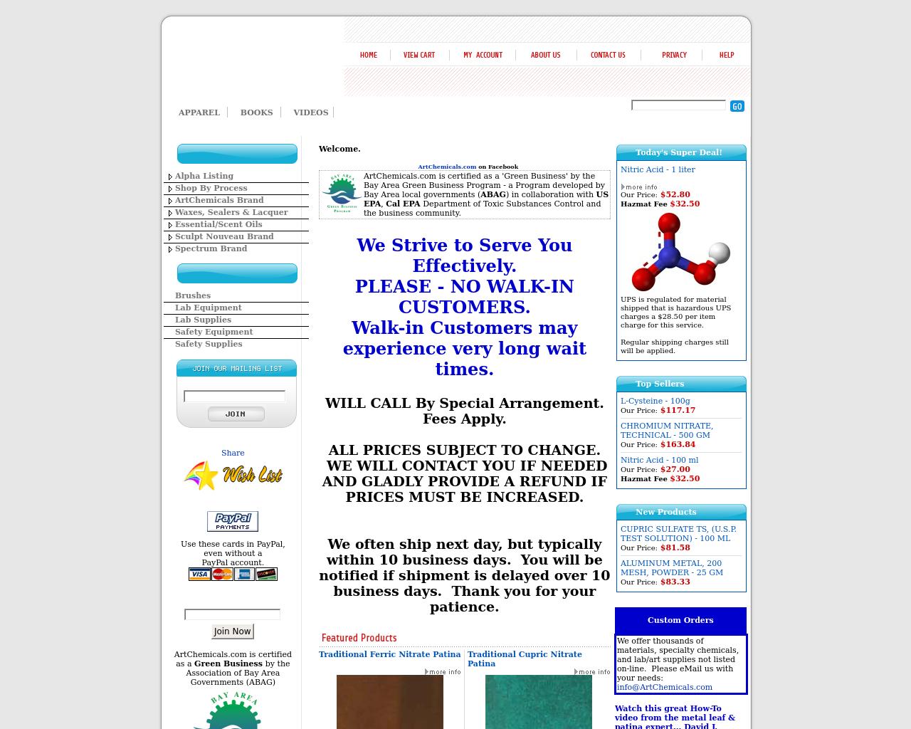 Artchemicals.com-Advertising-Reviews-Pricing