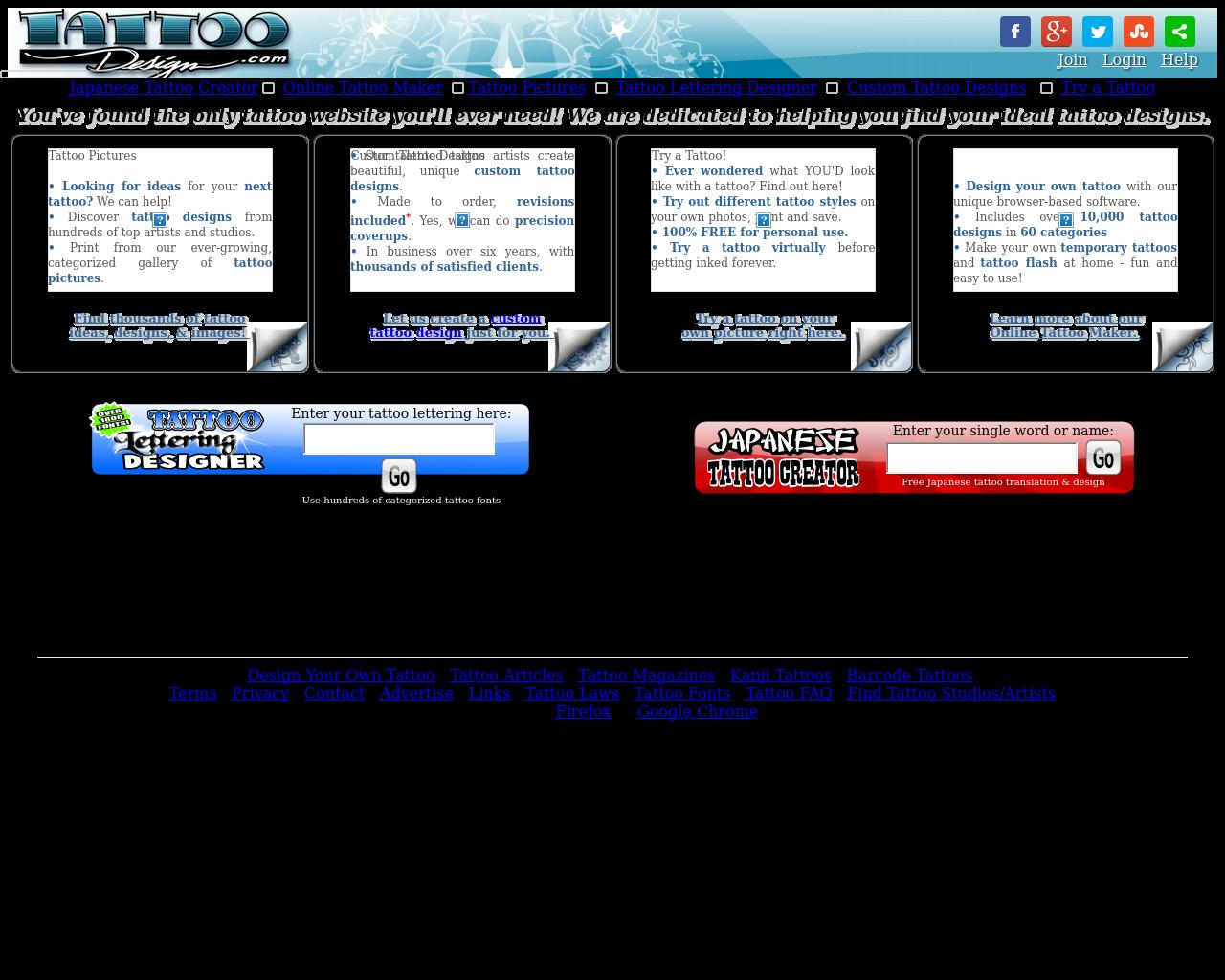 TATTOO Design.com Advertising Mediakits, Reviews, Pricing, Traffic ...