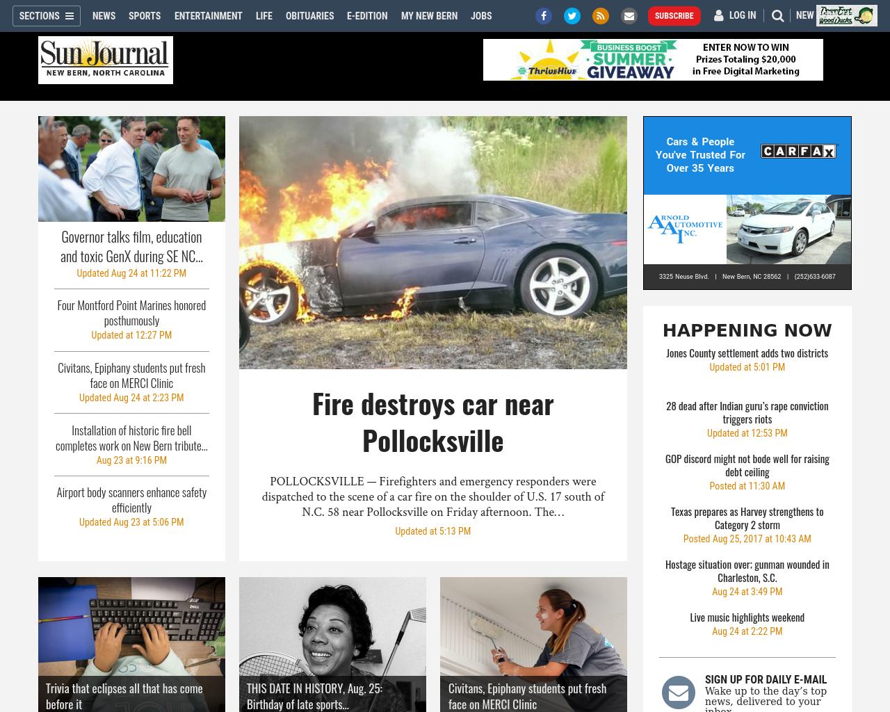 Sun-Journal-New-Bern,-North-Carolina-Advertising-Reviews-Pricing