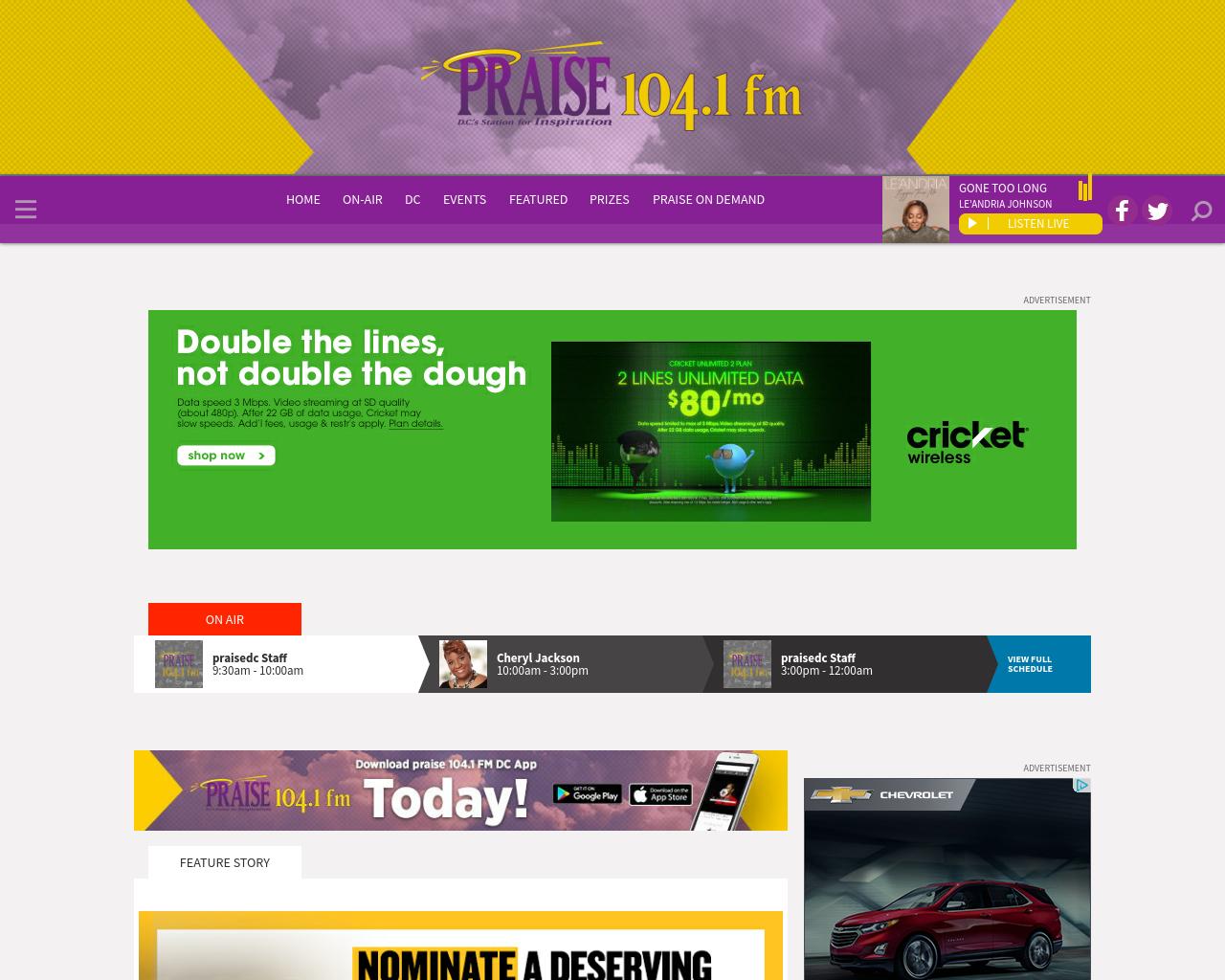 Praised104.1fm-Advertising-Reviews-Pricing