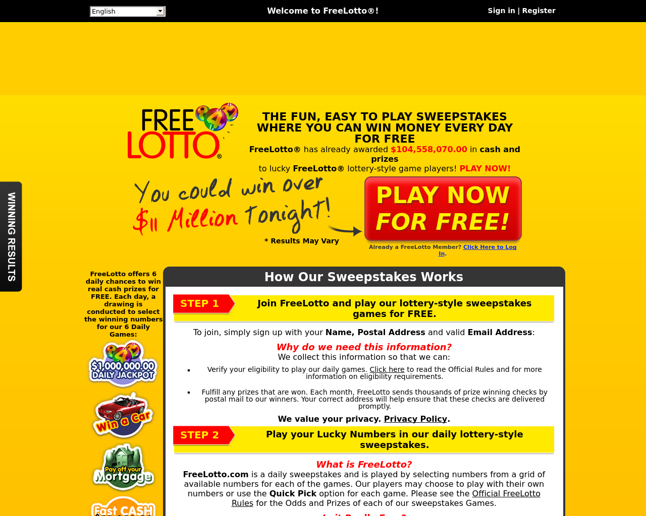 FreeLotto-Advertising-Reviews-Pricing