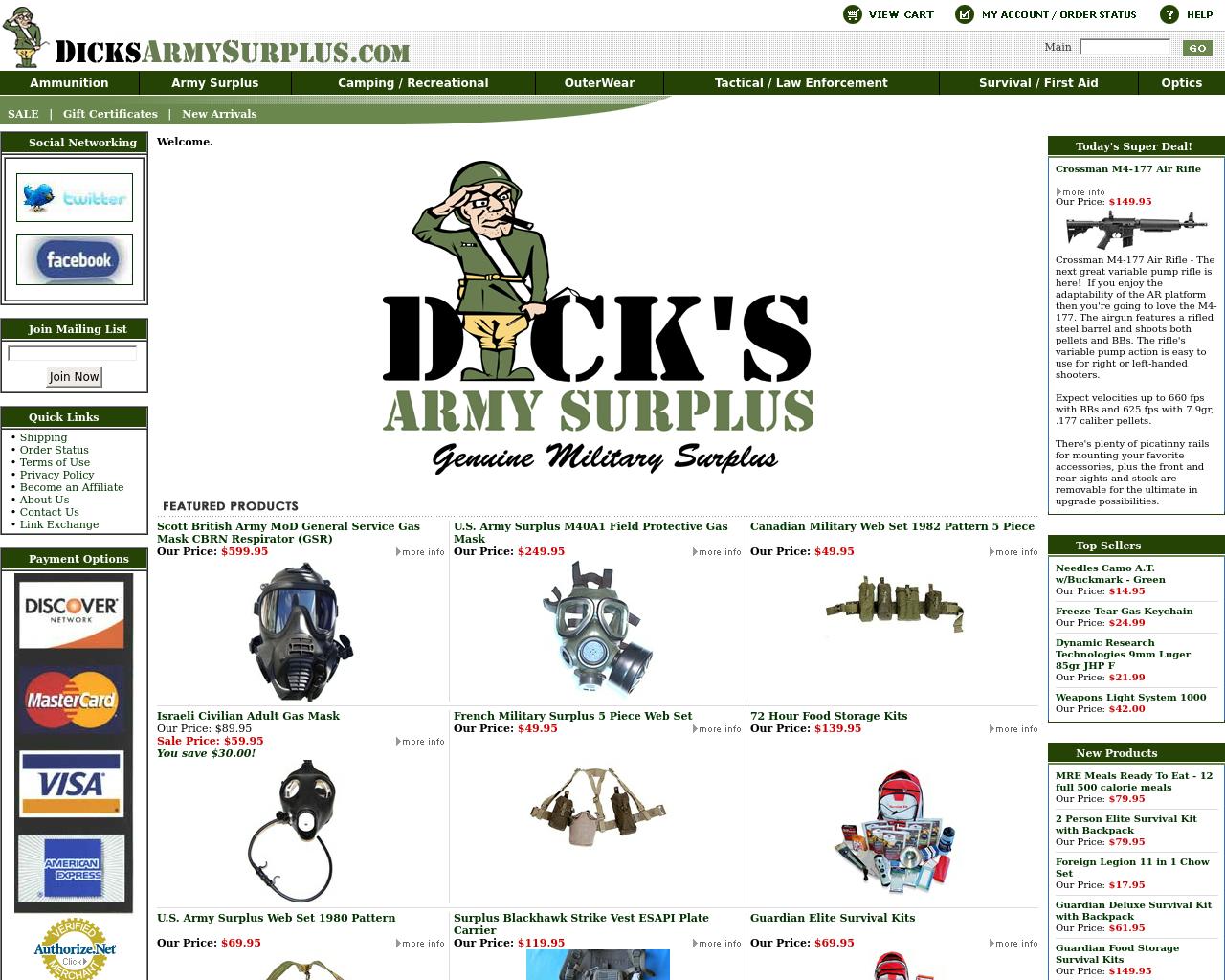 Dicks-Army-Surplus-Advertising-Reviews-Pricing