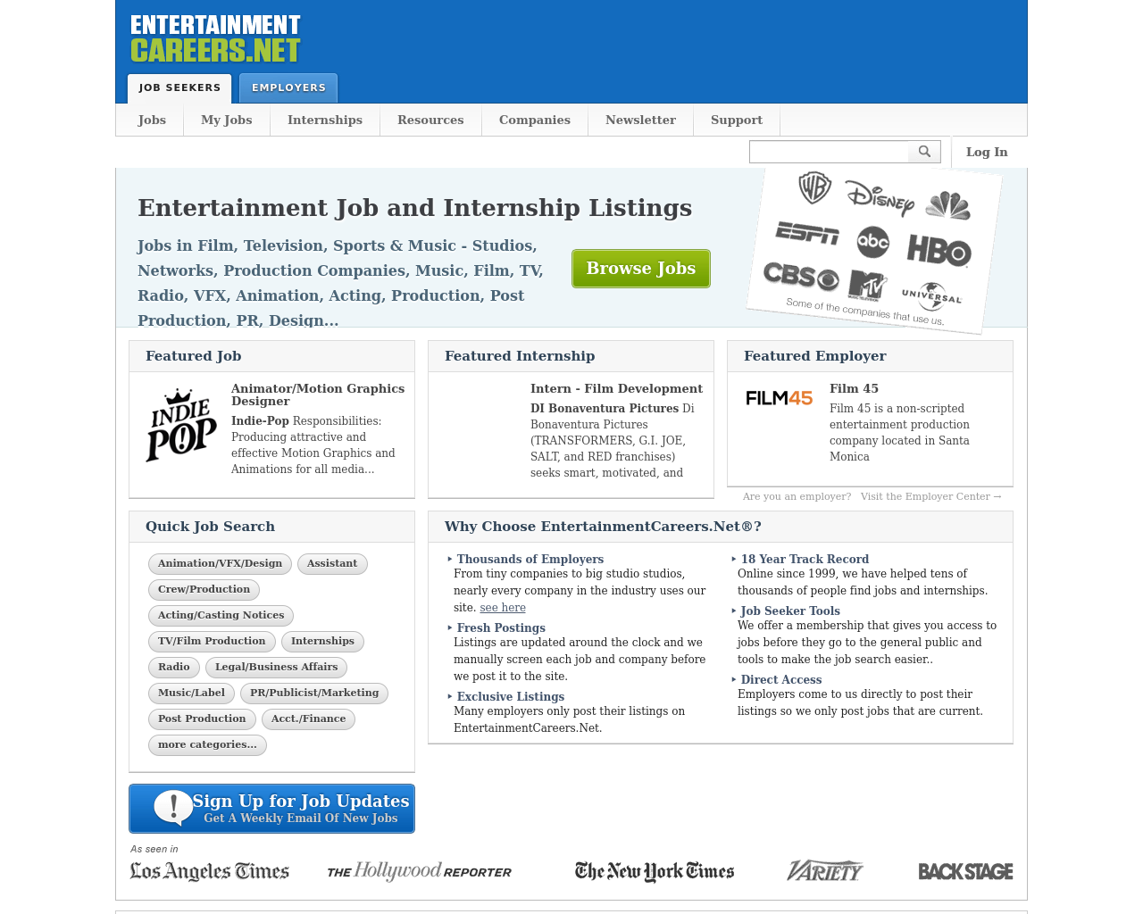 Entertainment-Careers-Advertising-Reviews-Pricing