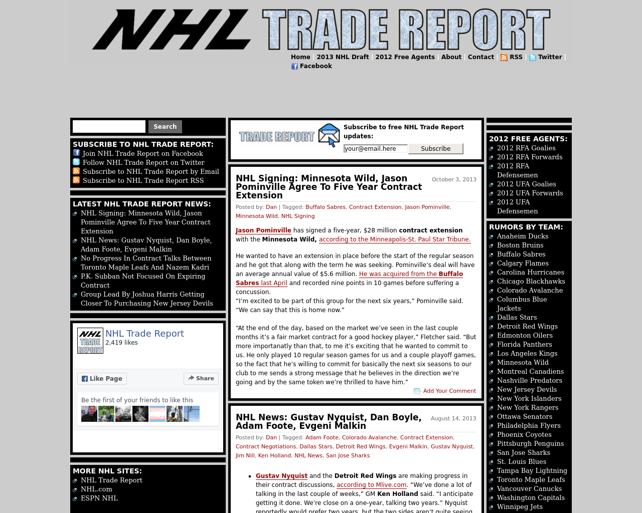 NHL-Trade-Report-Advertising-Reviews-Pricing