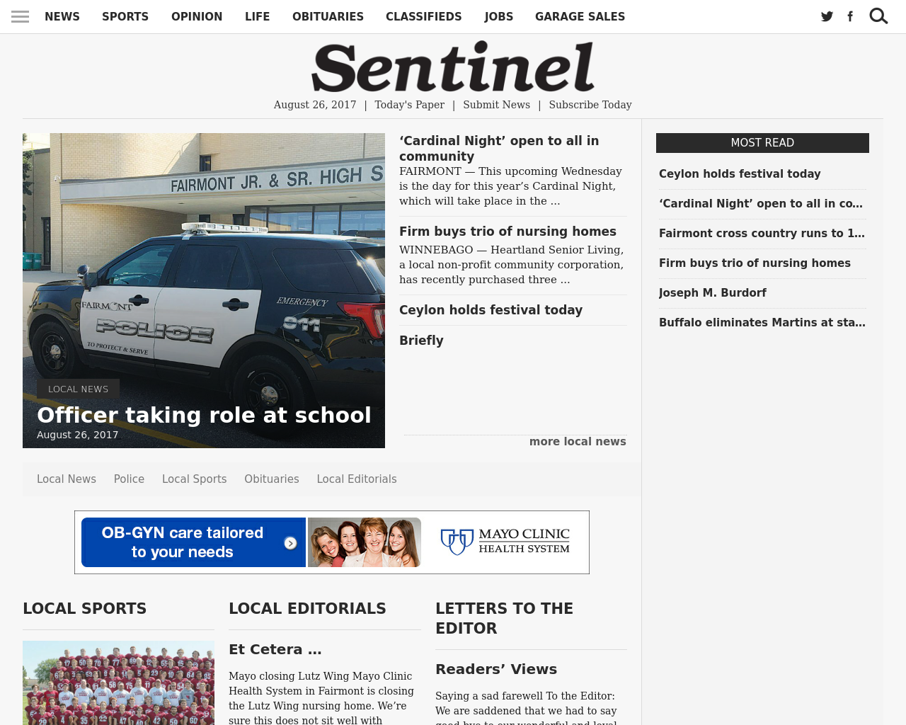 Fairmont-Sentinel-Advertising-Reviews-Pricing