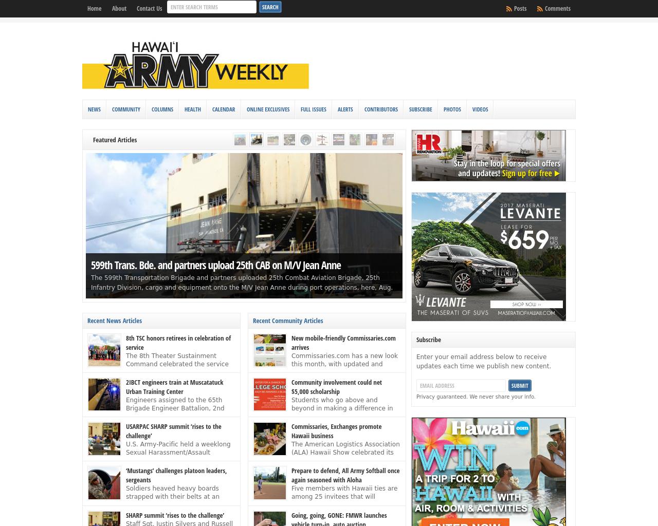 Hawaii-Army-Weekly-Advertising-Reviews-Pricing