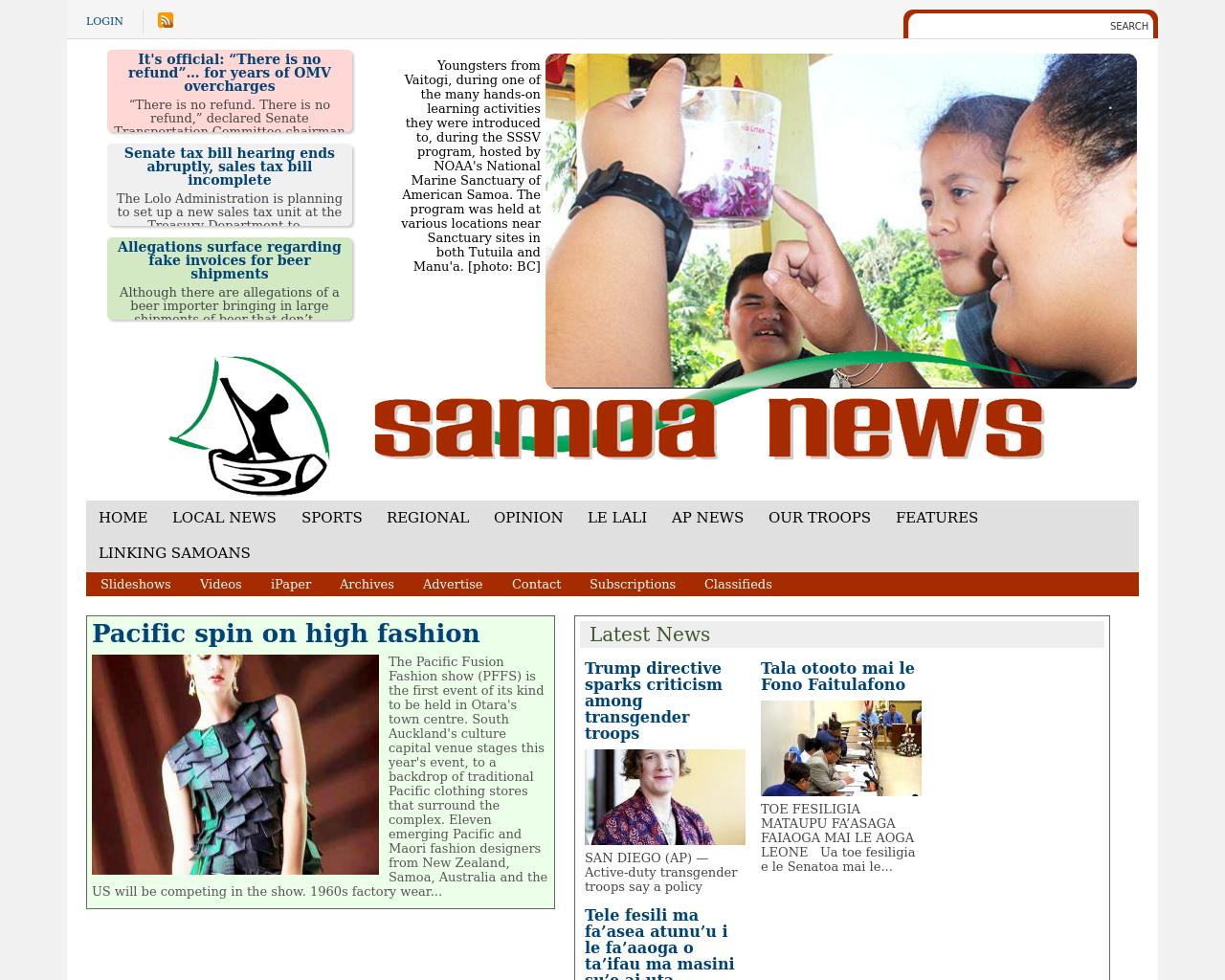 Samoa-News-Advertising-Reviews-Pricing