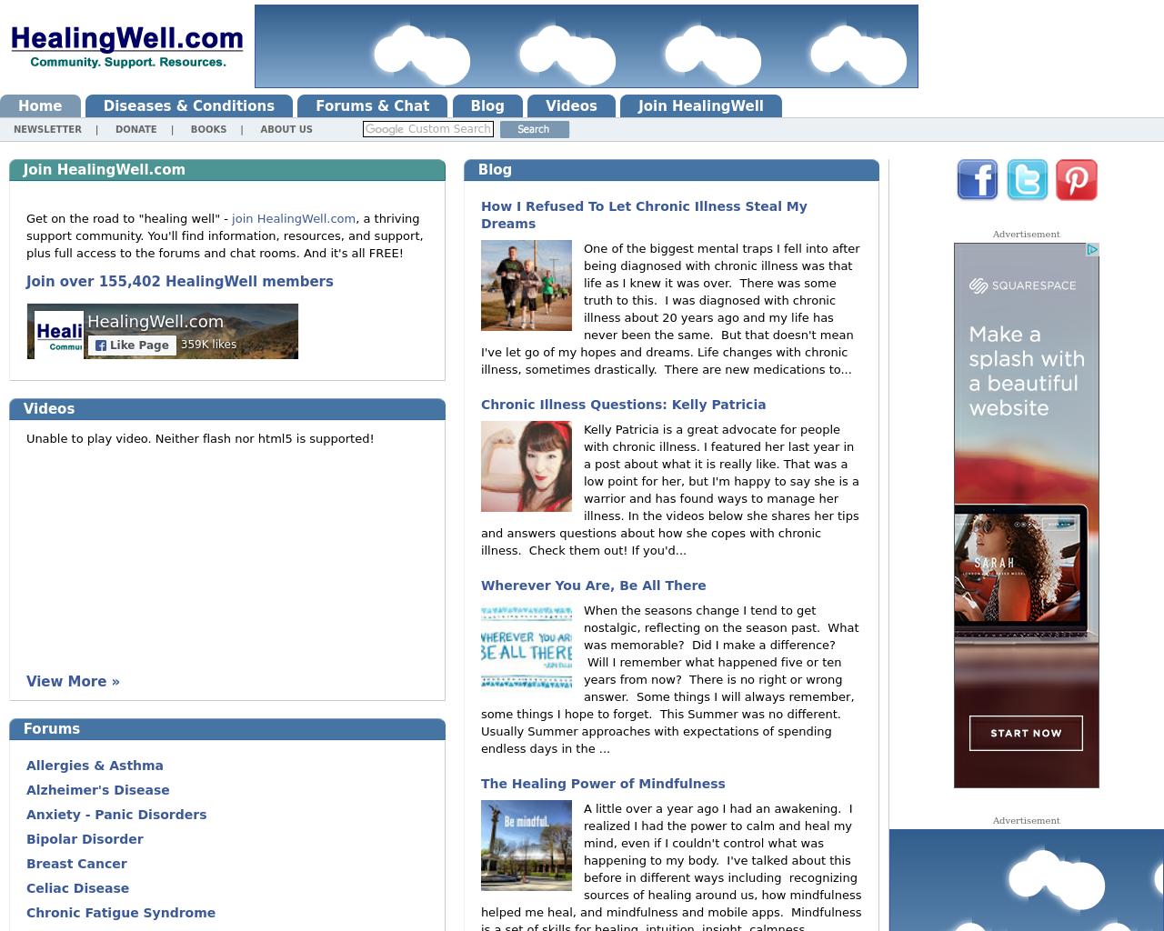 HealingWell.com-Advertising-Reviews-Pricing
