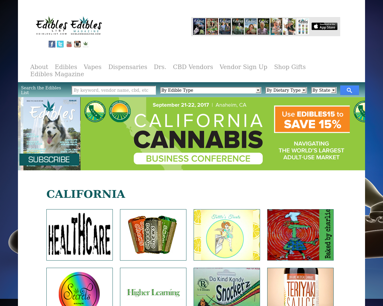 Edibles-List-Advertising-Reviews-Pricing