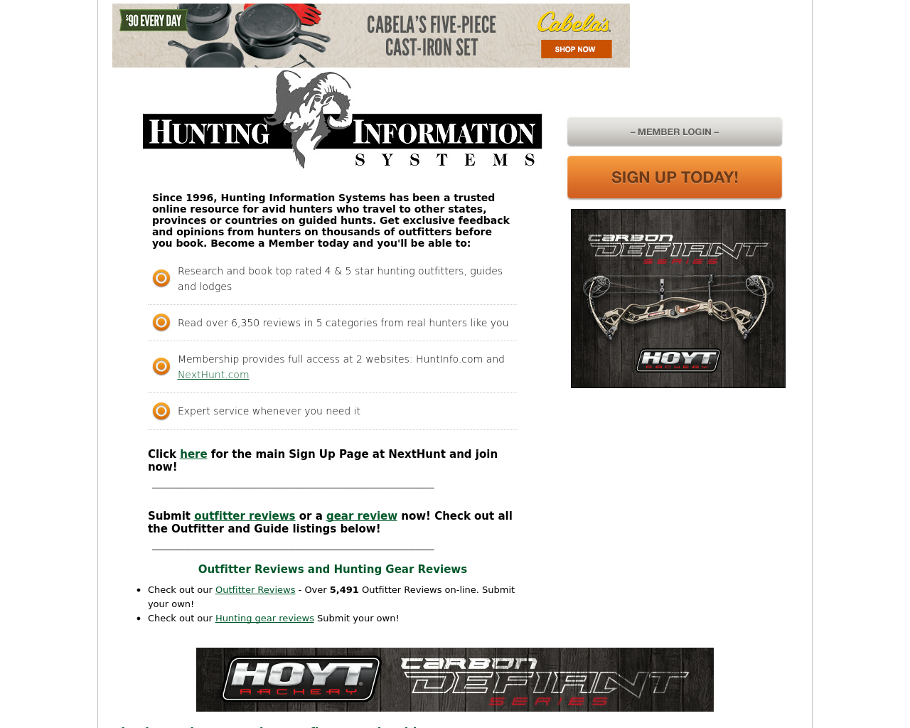 Hunting-Information-Systems-Advertising-Reviews-Pricing