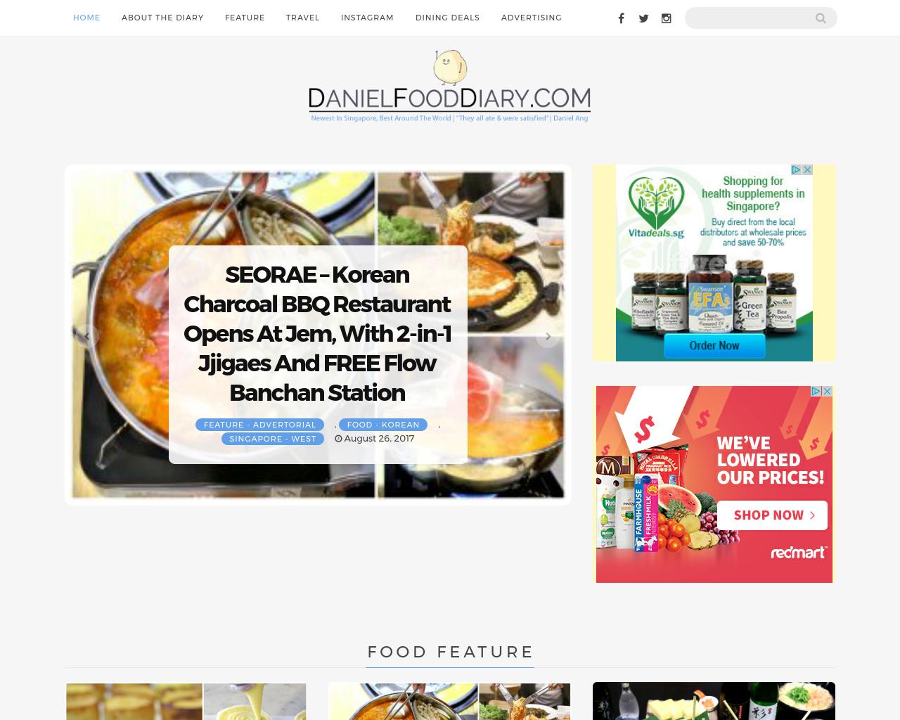 Daniel-Food-Diary-Advertising-Reviews-Pricing