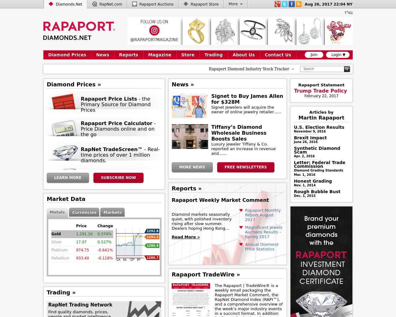 Rapaport-Media-Group-(Diamonds.Net)-Advertising-Reviews-Pricing