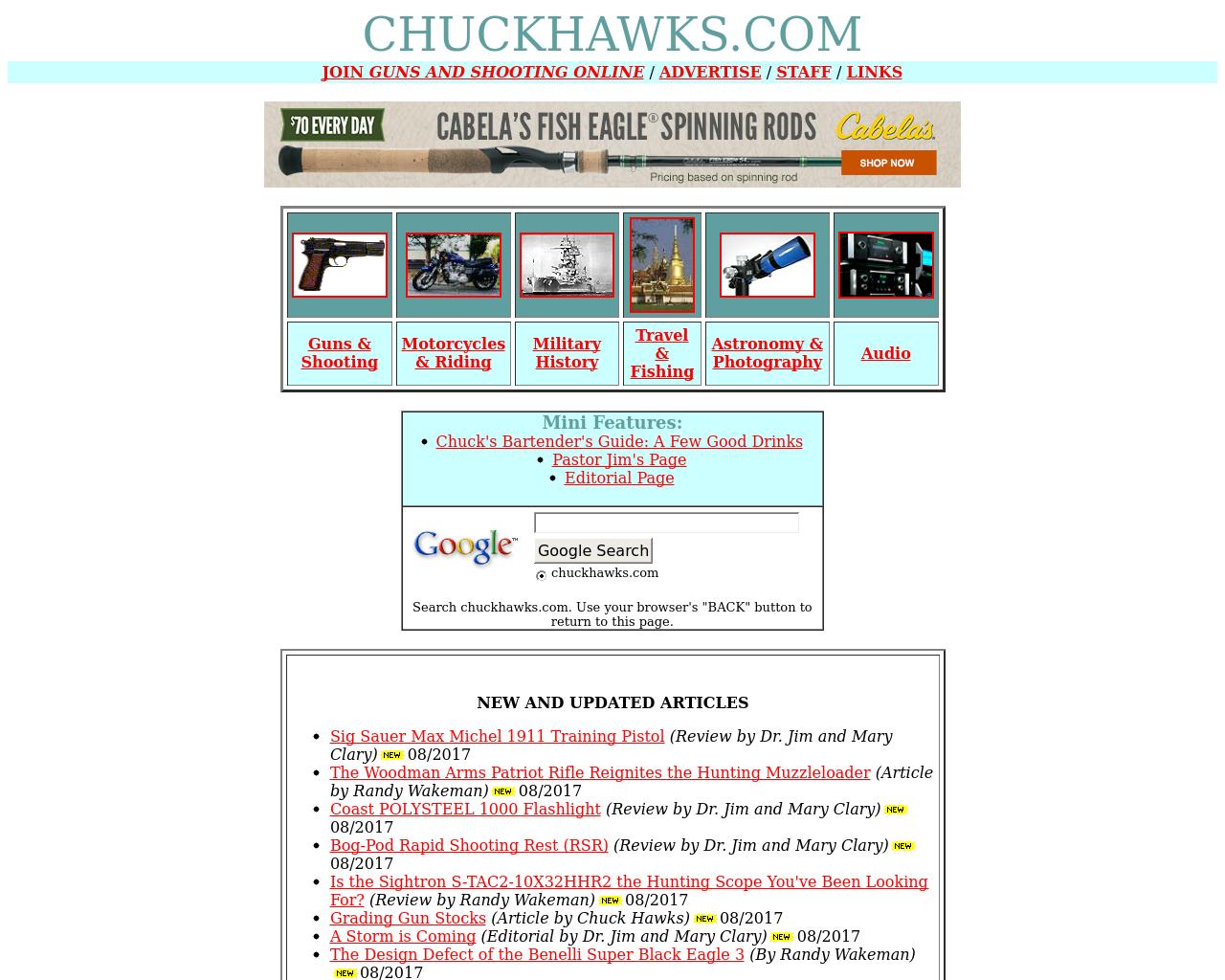 Chuckhawks.com-Advertising-Reviews-Pricing