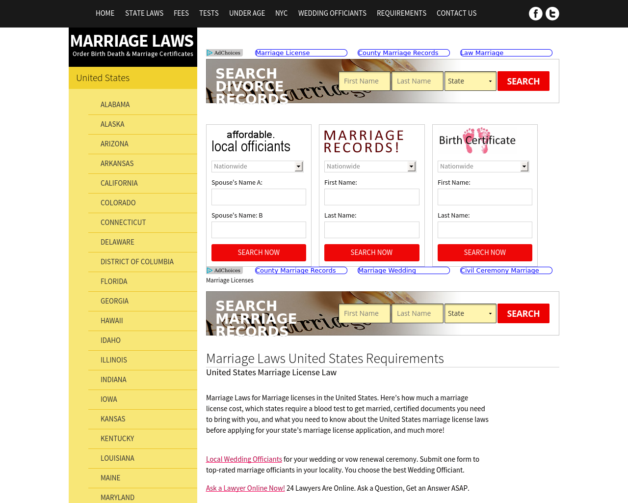 US-MARRIAGE-LAWS-Advertising-Reviews-Pricing