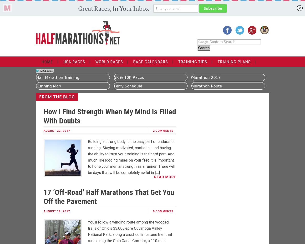half-marathons-Advertising-Reviews-Pricing