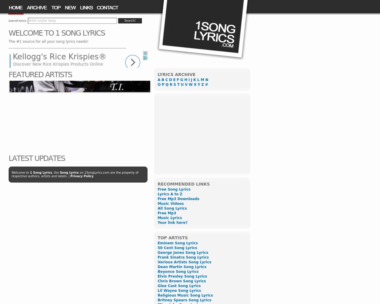 1-Song-Lyrics-Advertising-Reviews-Pricing