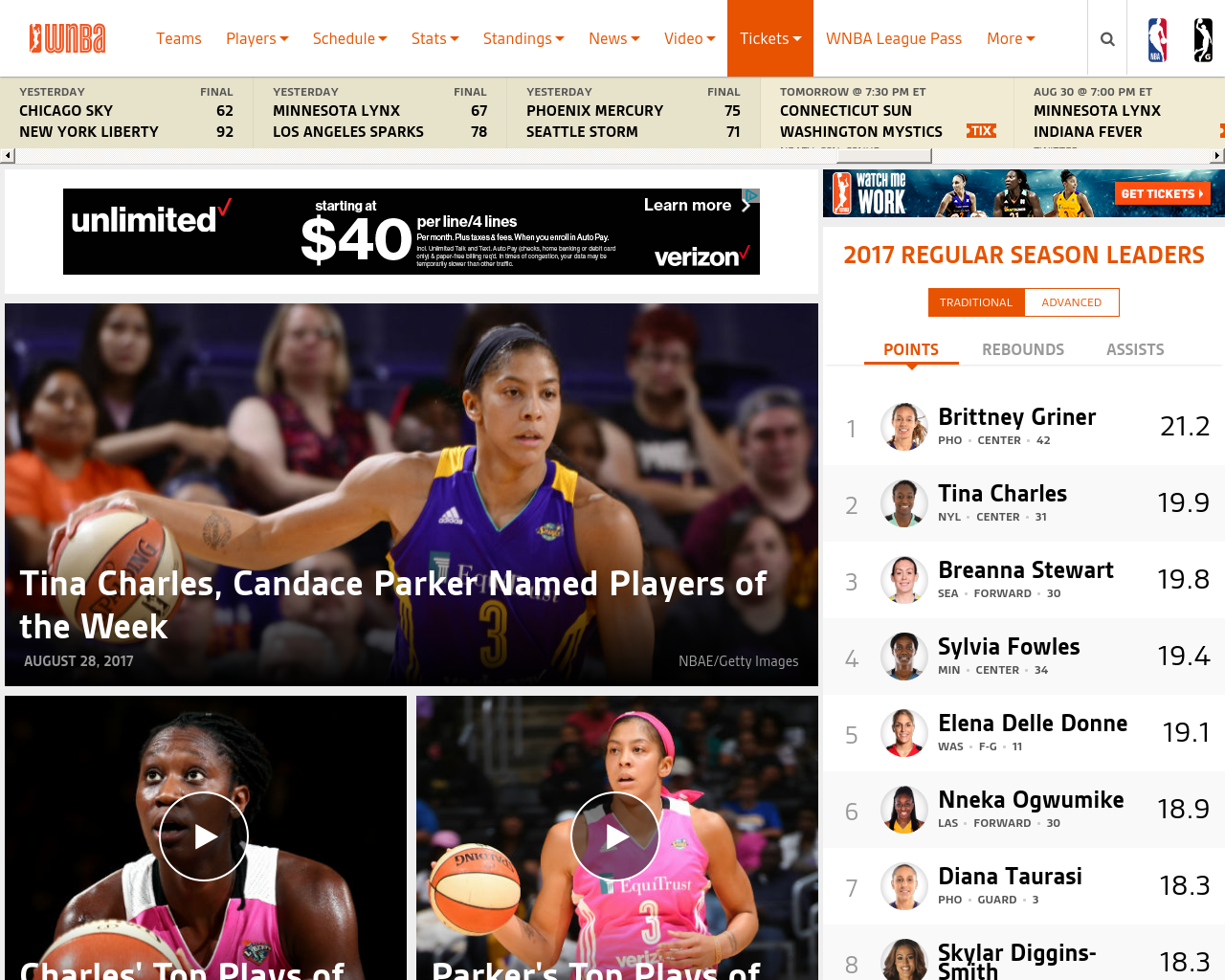 WNBA.com-Advertising-Reviews-Pricing