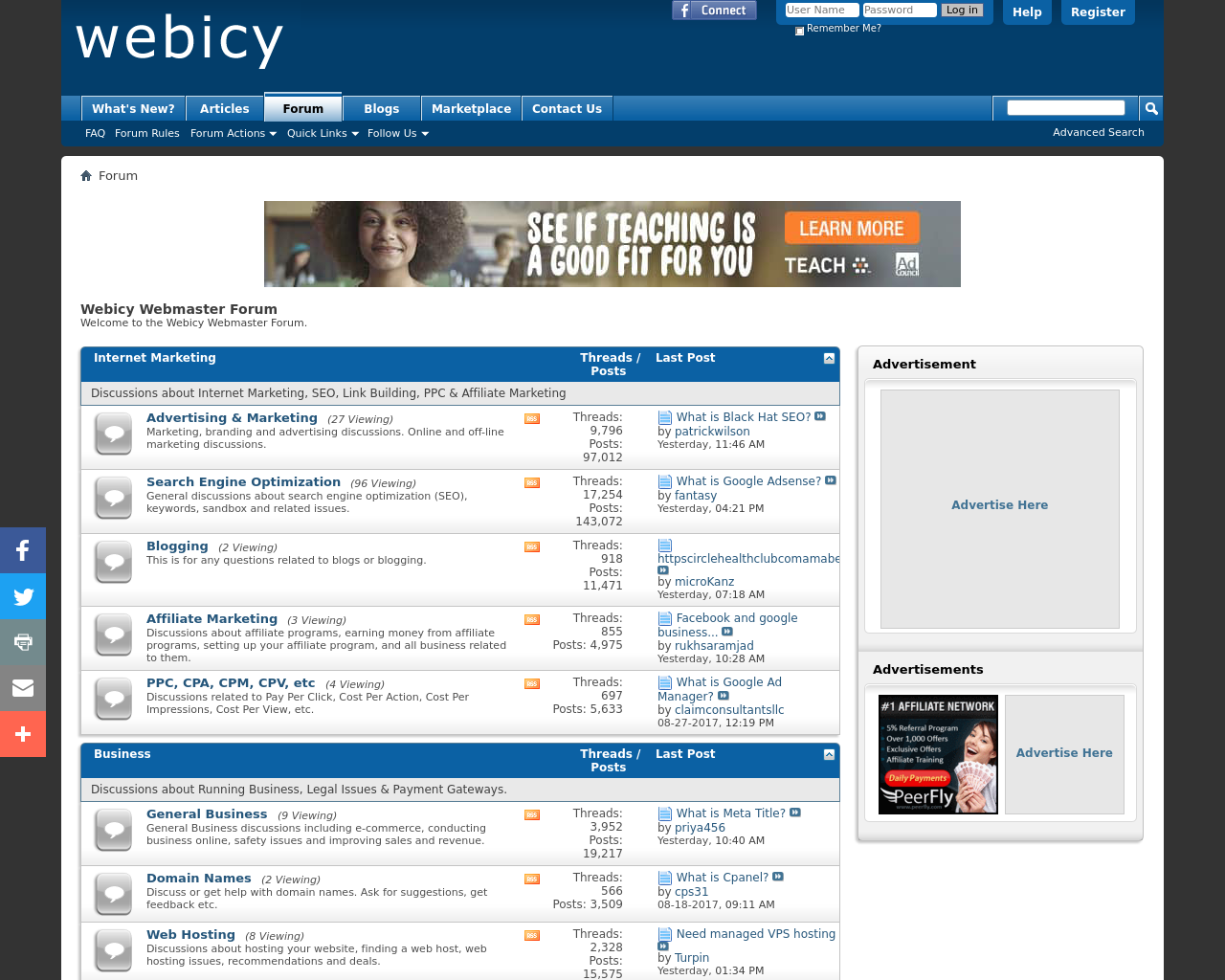 Webicy-Webmaster-Forum-Advertising-Reviews-Pricing