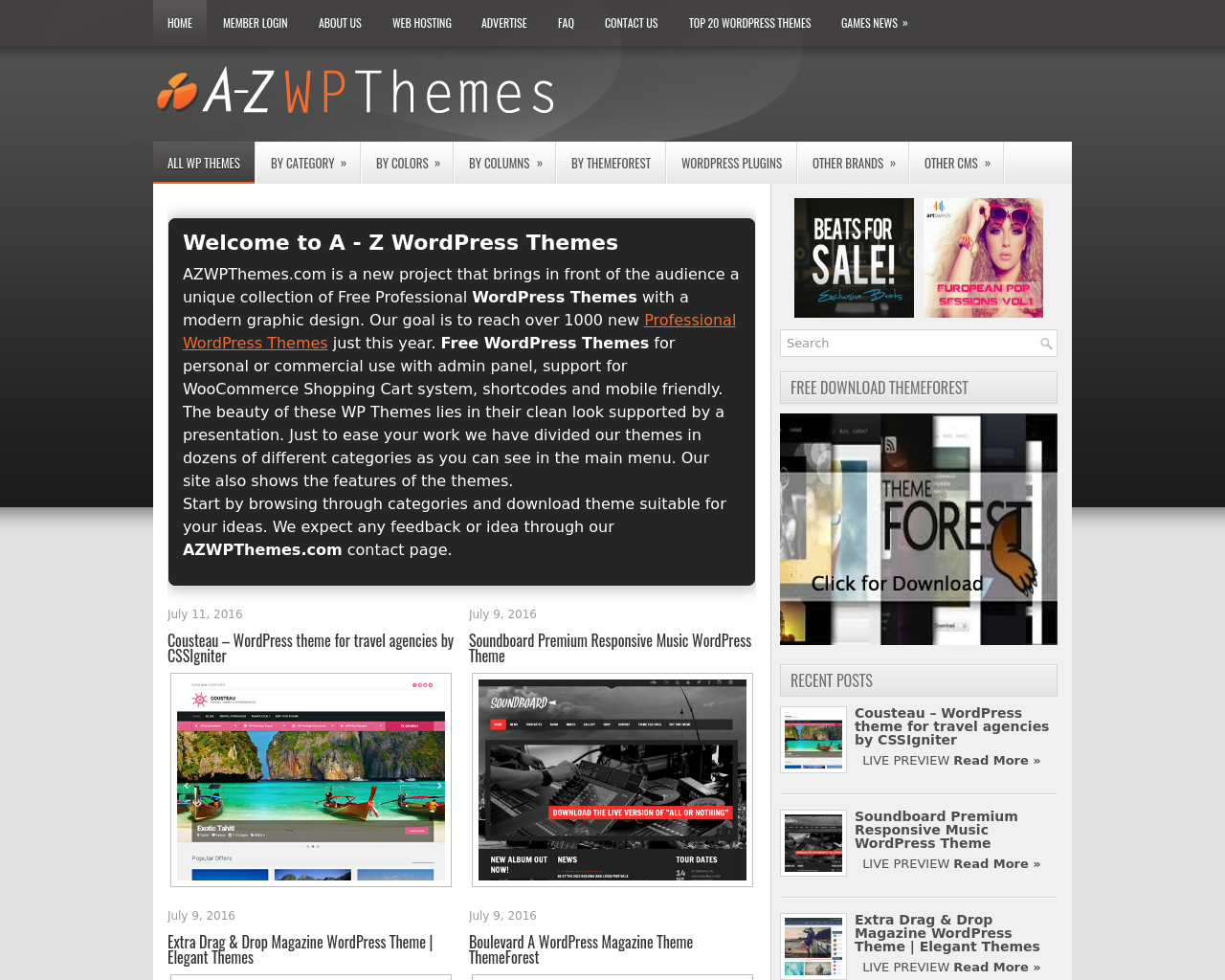 A-Z-WP-Themes-Advertising-Reviews-Pricing